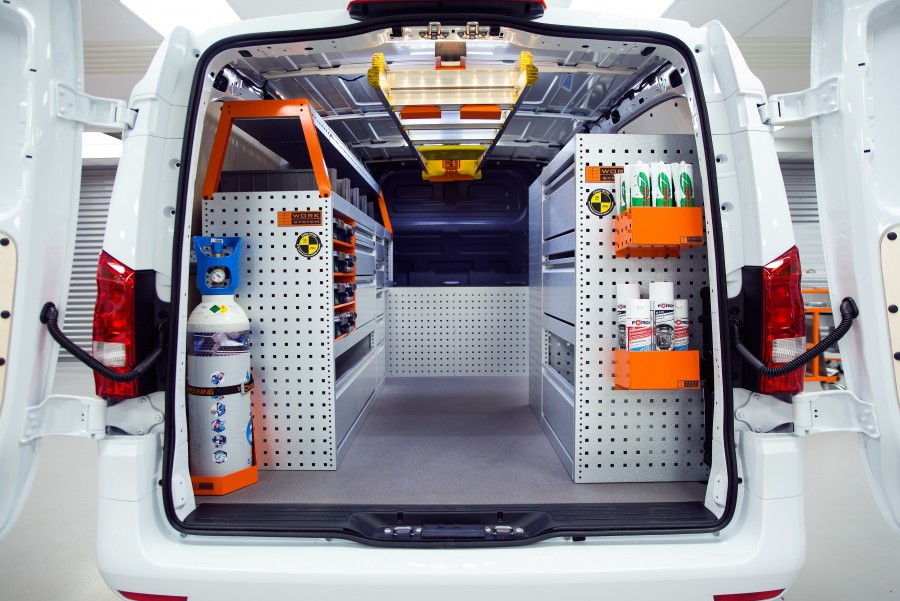 Fahrzeugregale für Kleintransporter von Work System finden Sie in unserem Onlineshop.