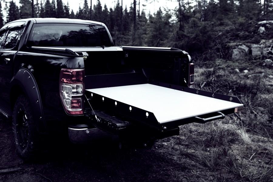 Verschiedene Schwerlastlösungen für Pick-up Ladeflächen vereinfachen die Anwendung der Lastfläche.