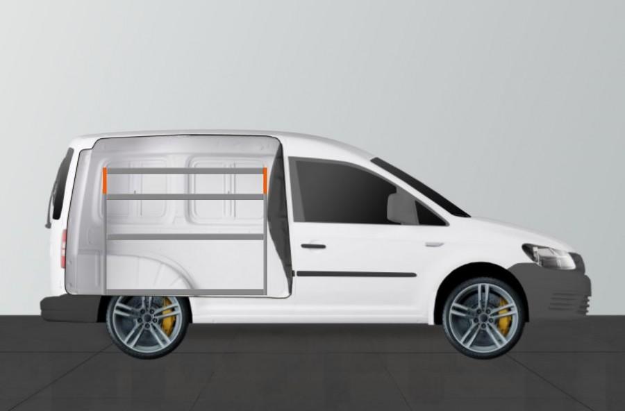 V-Basic Fahrzeugregal für VW Caddy
