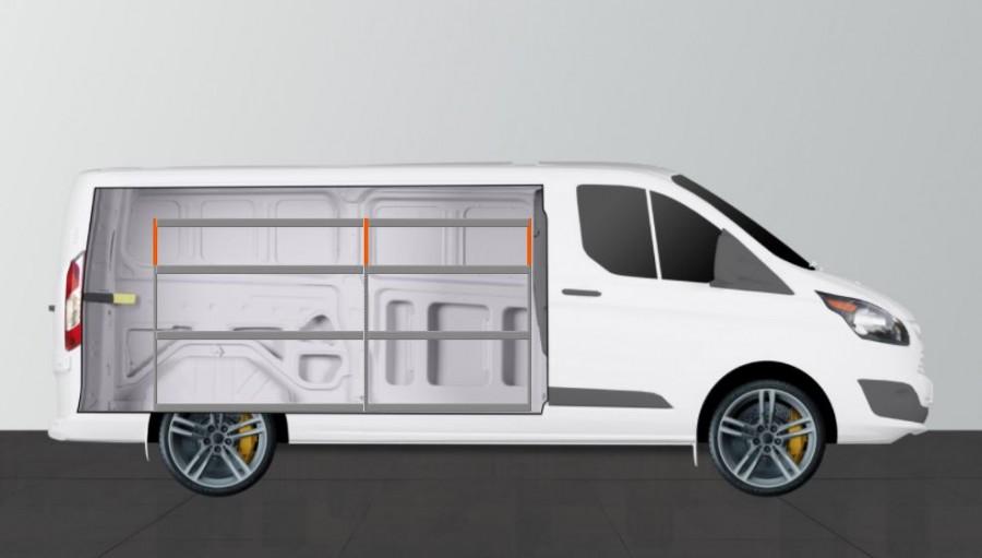 V-Basic Fahrzeugregal für Ford Transit Custom