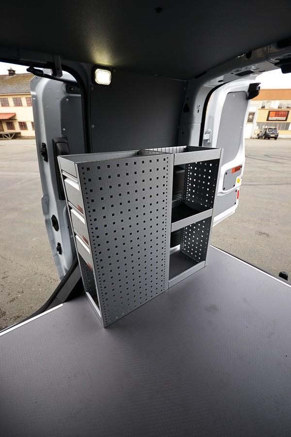 H-SD3S Fahrzeugregal für VW Caddy innan ansiecht.