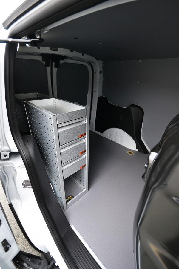 H-SD3S Fahrzeugregal für VW Caddy seiten ansiecht.
