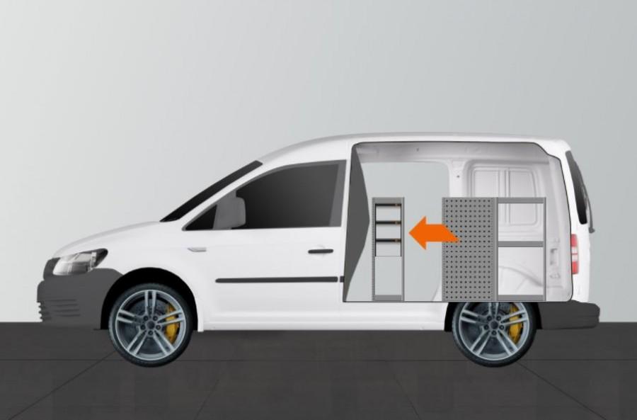 H-SD3S Fahrzeugregal für VW Caddy