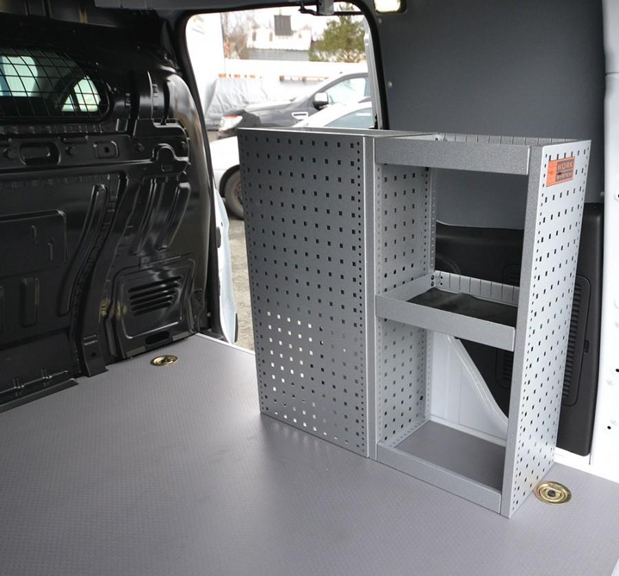 H-SD3S Fahrzeugregal montiert in einem VW Caddy