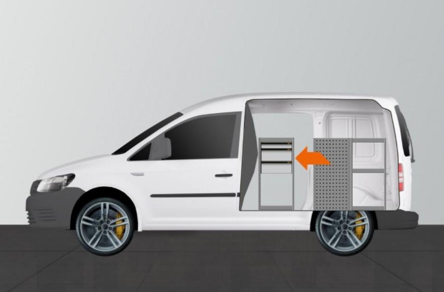 H-SD3M Fahrzeugregal für VW Caddy.