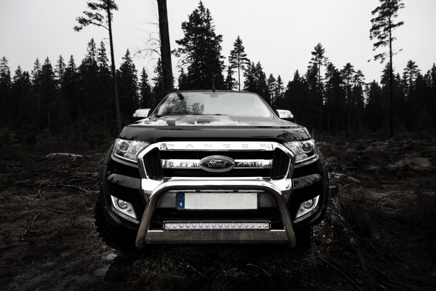 Frontbåge EU godkänd 63mm rostfri, Ford Ranger 2012-2016