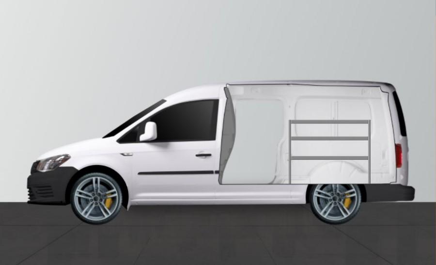 Fahrzeugregal H-Basic von Work System für VW Caddy Maxi