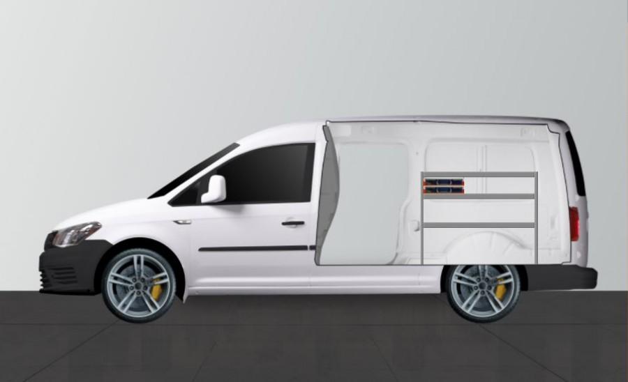 Die Fahrzeugeinrichtung SS2 von Work System für Volkswagen Caddy Maxi