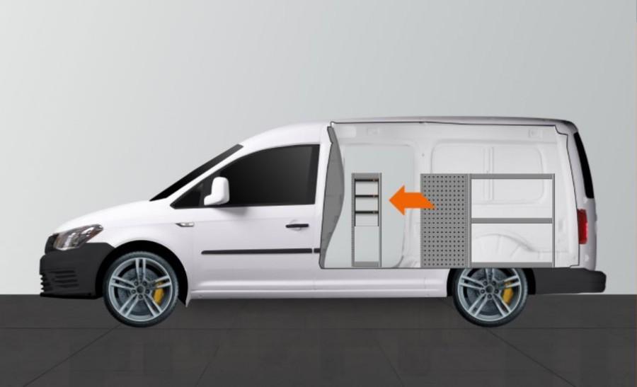 H-SD3S Fahrzeugregal für Caddy Maxi