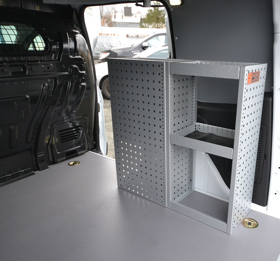 H-SD3S Fahrzeugregal montiert in einem Caddy Maxi