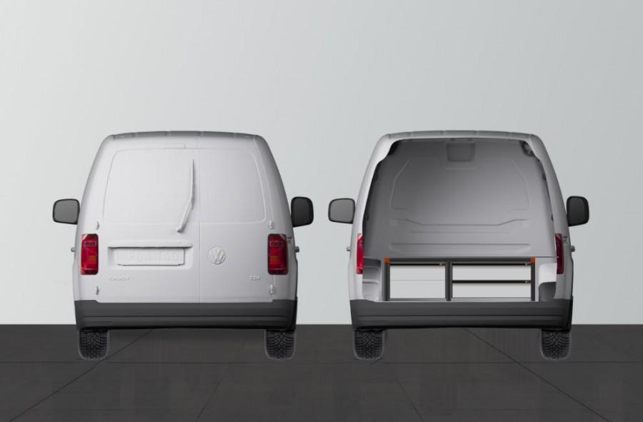 UNTERFLUR H34 MIT 4 Schubladen für VW Caddy