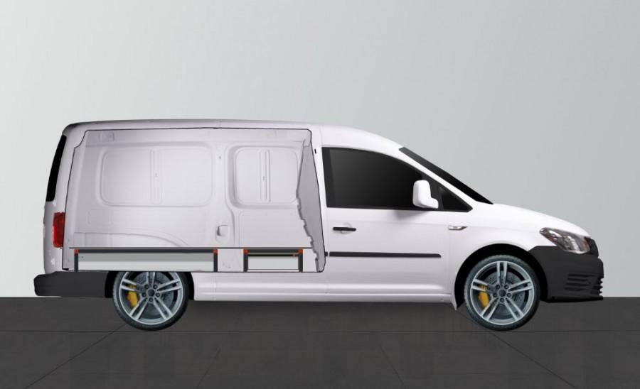 UNTERFLUR H21 Caddy Maxi 3 SCHUBLADEN - Seiten ansiecht.