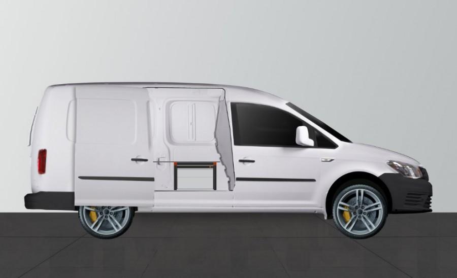 UNTERFLUR H34 Caddy Maxi 4 Schubladen mit Tür