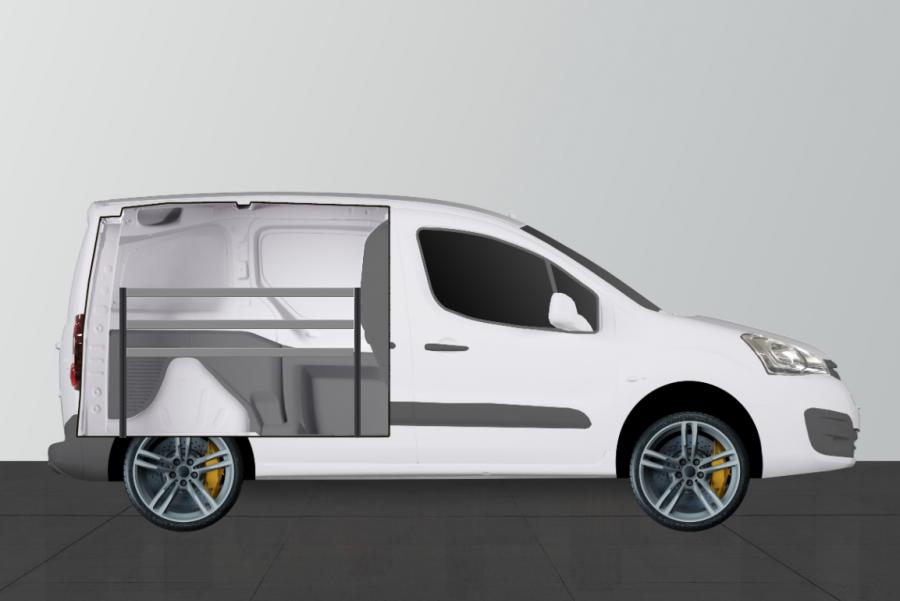 V-ECO Fahrzeugregal Citroën Berlingo & Peugeot Partner L1 | Work System
