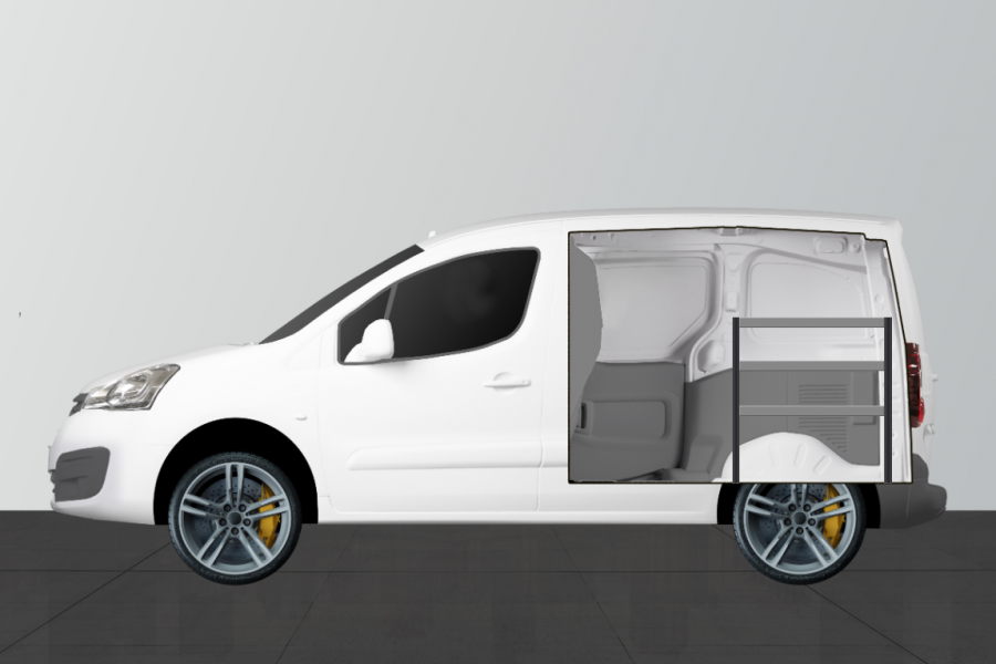 H-ECO Fahrzeugregal Citroën Berlingo & Peugeot Partner   Work System