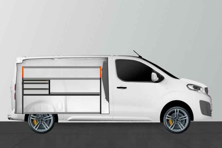 V-LS3 Fahrzeugregal Expert, Jumpy & ProAce | Work System