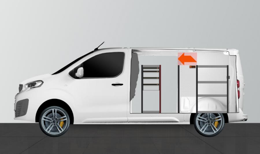 H-SD4M Fahrzeugregal Expert, Jumpy & ProAce | Work System