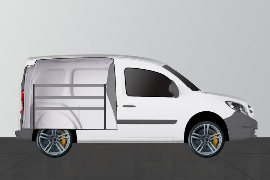 V-ECO Fahrzeugregal für Citan Lang & Kangoo Standard | Work System