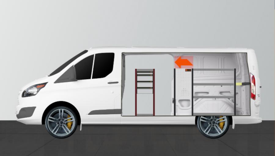 H-SD4M Fahrzeugregal für Ford Custom L2H1 | Work System
