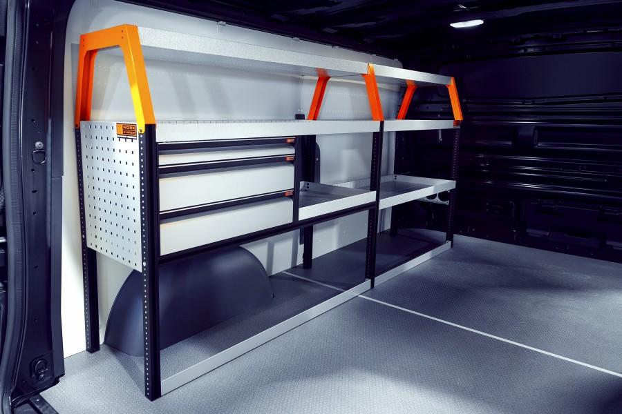 V-LS3 Fahrzeugregal für Talento, NV300, Vivaro & Trafic | Work System