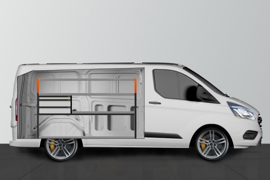 V-LS3 Fahrzeugregal für Ford Custom L1 | Work System
