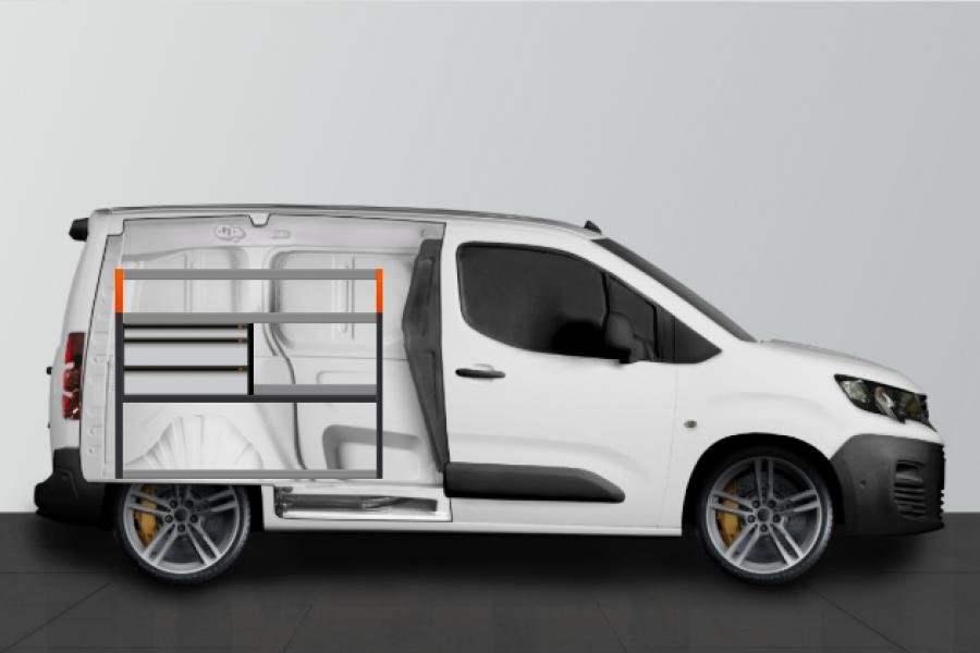 V-LS3 Fahrzeugregal für Berlingo, Combo & Partner L1 | Work System