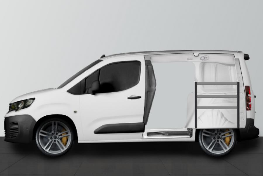 H-ECO Fahrzeugregal für Berlingo, Combo & Partner L1 | Work System