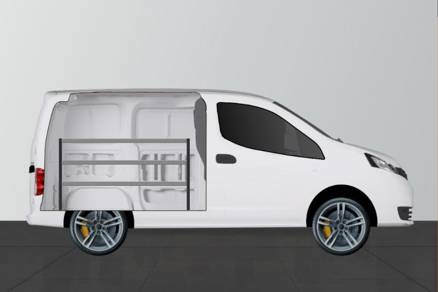 V-ECO Fahrzeugregal für Nissan NV200 | Work System