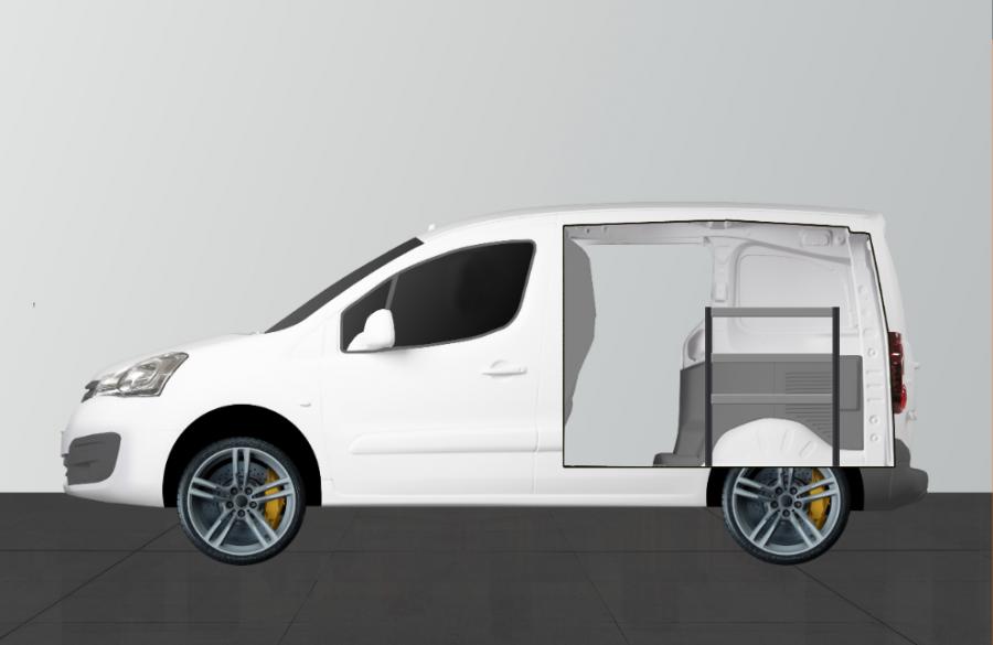 H-ECO Fahrzeugregal für Nemo, Fiorino & Bipper | Work System